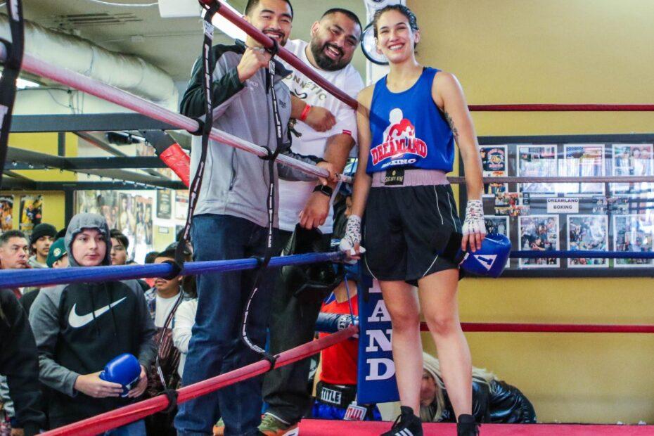 Coach Ian Cruz, Luis Rodriguez and Sara Koshfam