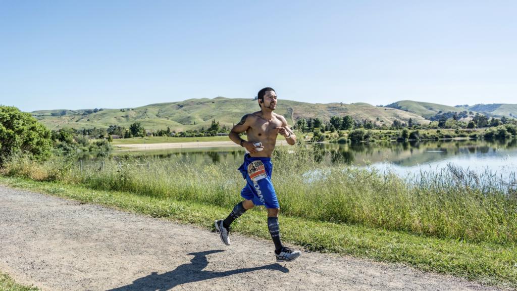 Coach Ian Cruz at the Western Pacific Half Marathon