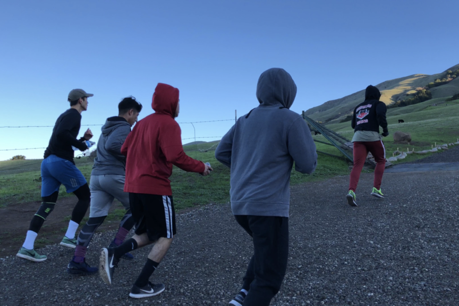 Conditioning for Boxing - Dreamland Boxing team running Mission Peak