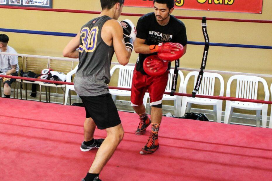 Andrew Campos and Coach Ian Cruz at Dreamland Boxing