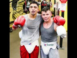 Eros Correa and Oscar Escandon at Dreamland Boxing in San Jose, CA