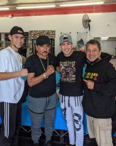 Mark Salgado, Leo Santa Cruz, and Jesse Huerta (Dreamland Boxing)