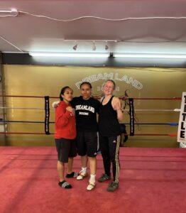 Sandra Magallon (Dreamland Boxing) Beki Light and Joanne Castillo