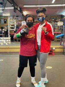 Sandra Magallon and JJ Smith (Dreamland Boxing)