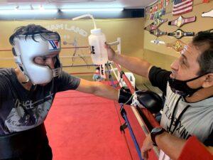 Mark Salgado and Jesse Huerta at Dreamland Boxing