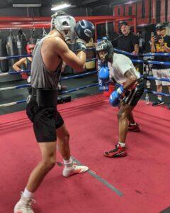 Mark Salgado Sparring at Pound 4 Pound Boxing