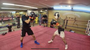 Mark Salgado sparring at Dreamland Boxing