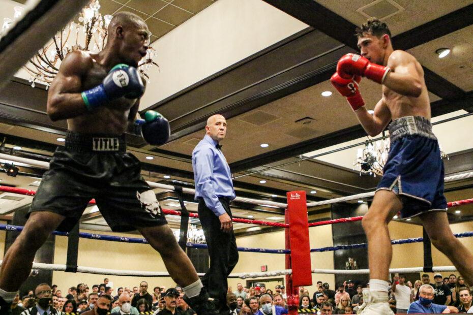 Mark Salgado (Dreamland Boxing) and C'maje Ramseur pro debut
