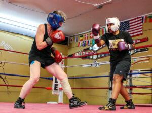 Sandra Magallon and Beki Light Sparring at Dreamland Boxing