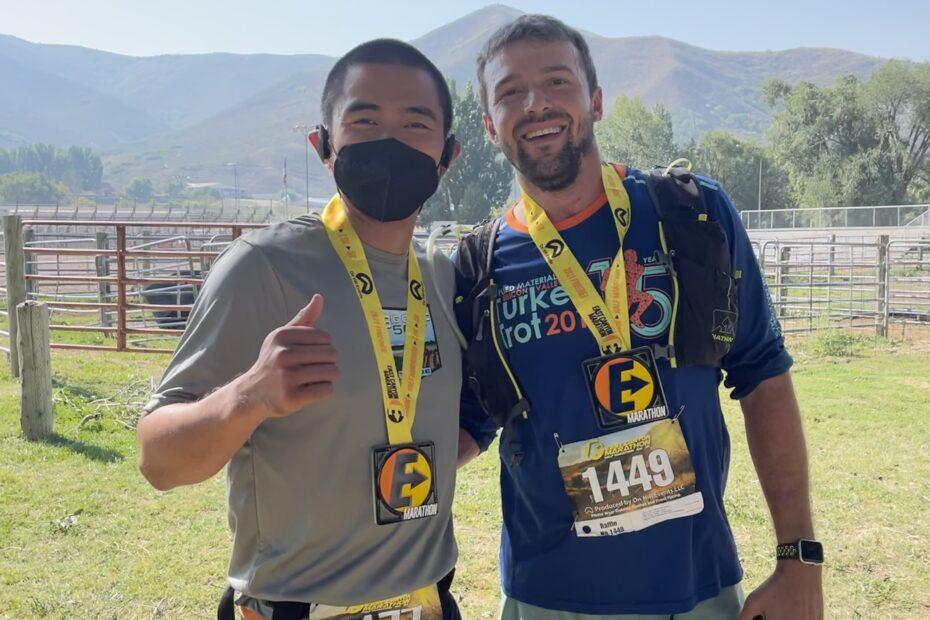 Coach Ian Cruz at the East Canyon Marathon