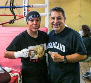 Sandra Magallon and Jesse Huerta at Dreamland Boxing