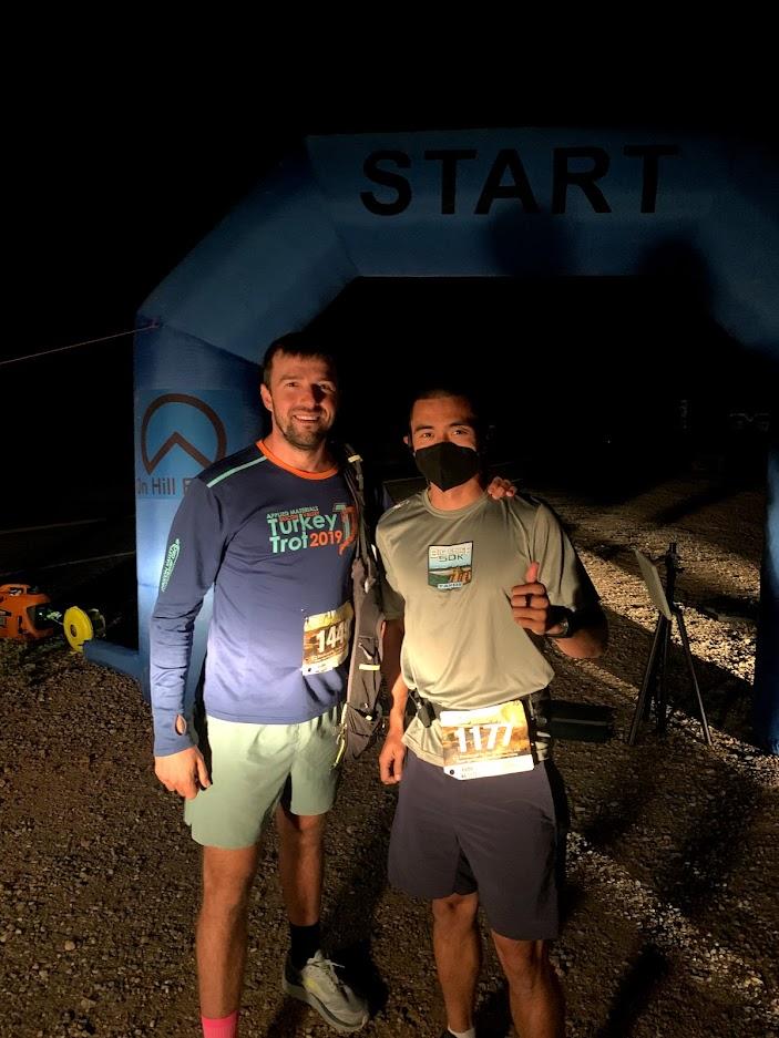 East Canyon Marathon start line - before sunrise!